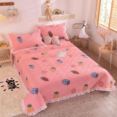 2020新款全棉夹棉床盖软席-花边床盖款 单件200*230cm花边床盖款 迷彩萝卜-粉