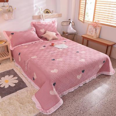2020新款全棉夹棉床盖软席-花边床盖款 单件200*230cm花边床盖款 心动瞬间