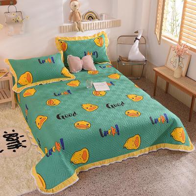 2020新款全棉夹棉床盖软席-花边床盖款 单件200*230cm花边床盖款 幸运鸭