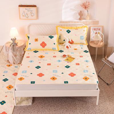 2020新款全棉夹棉床垫-直边款床盖 单件90*200cm直边软席款 初晨阳光