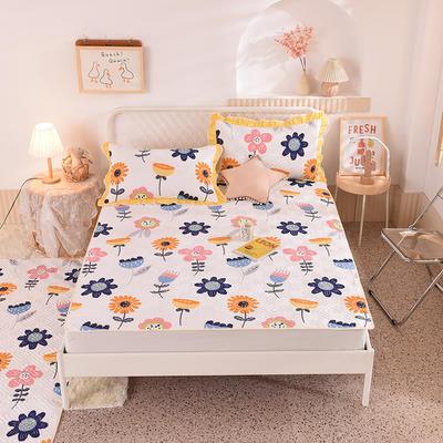 2020新款全棉夹棉床垫-直边款床盖 单件90*200cm直边软席款 静看花颜