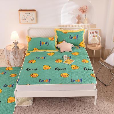 2020新款全棉夹棉床垫-直边款床盖 单件90*200cm直边软席款 幸运鸭