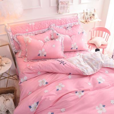 2020新款全棉四件套床单款 1.5m床单款四件套 缤纷花朵