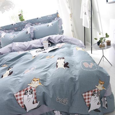 2020新款全棉四件套床单款 1.5m床单款四件套 快乐狗狗