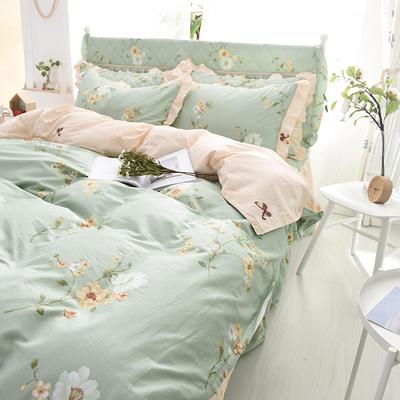 2020新款全棉四件套床单款 1.5m床单款四件套 曼妙花语