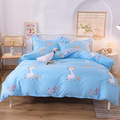 2020新款全棉四件套床单款 1.5m床单款四件套 小鹿天使