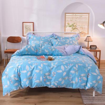 2020新款全棉四件套床单款 1.5m床单款四件套 叶叶情怀