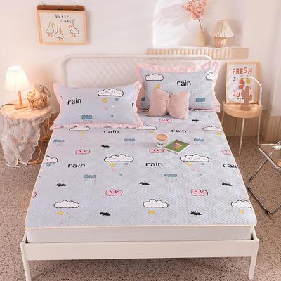 2020新款全棉夹棉床垫-直边款床盖 单件90*200cm直边软席款 快乐云朵