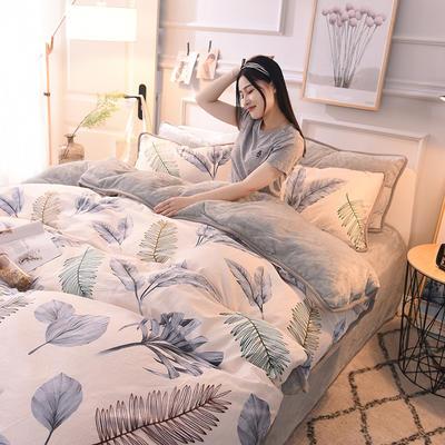 2020新款棉加绒四件套 1.5m床单款四件套 灵动风情