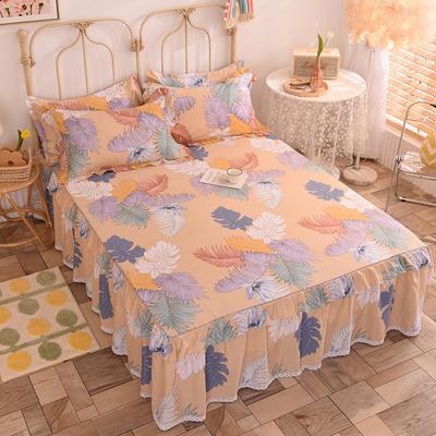 2020新款全棉蕾丝小花边单床裙 120*200cm单层床裙 繁花依旧