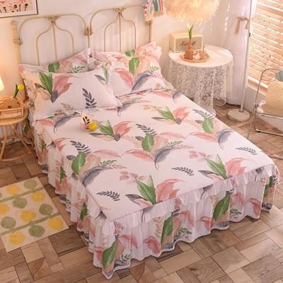 2020新款全棉蕾丝小花边单床裙 120*200cm单层床裙 花影菲菲