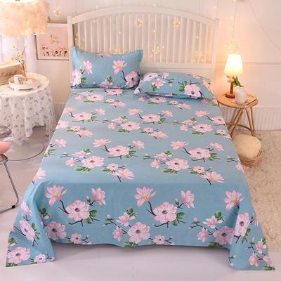 2020新款全棉单床单 230cmx245cm 满庭芳-蓝