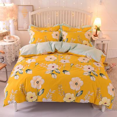 2020新款全棉四件套床单款 1.5m床单款四件套 春之暖阳