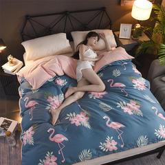 2018新款-棉加绒单被套 200X230cm 爱情鸟