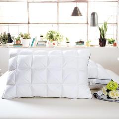 艾丽丝枕芯 面包羽绒枕48*74CM  羽丝绒枕系列 羽绒枕