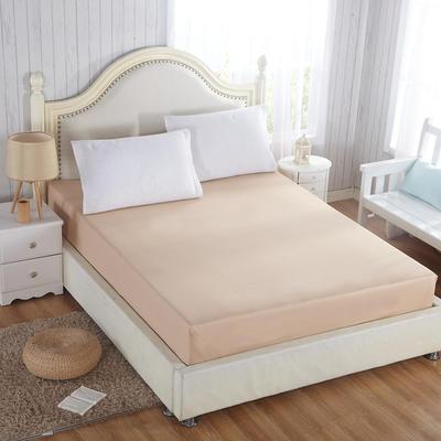 纯色单层全棉床笠 120cmx200cm定做驼色 驼色