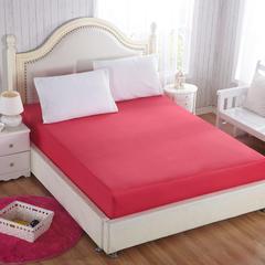 纯色单层全棉床笠 150cmx200cm 酒红色