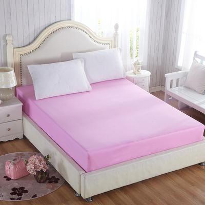 纯色单层全棉床笠 150cmx200cm 粉玉色