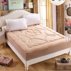 水晶超柔绒压花防静电床笠式床垫 150X200cm 驼色