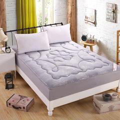 水晶超柔绒压花防静电床笠式床垫 150X200cm 灰色