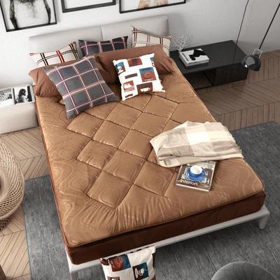 加厚耐压水晶超柔绒压花防静电床垫 90X200cm 咖啡色