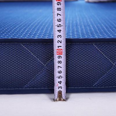 加厚针织立体记忆棉床垫 90X200cm 深蓝10cm高
