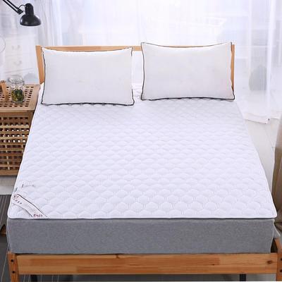 可水洗全棉绗绣夹棉床垫床护垫 90X200cm 白色