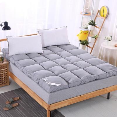 加厚加量10cm立体羽丝绒床垫 90X200cm 灰色