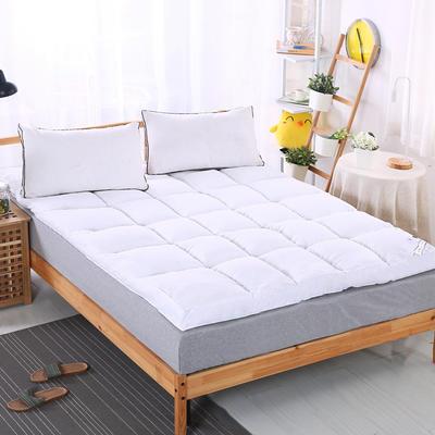 加厚加量10cm立体羽丝绒床垫 90X200cm 白色