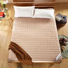 绗绣加厚耐压榻榻米床垫 90X200cm 驼色