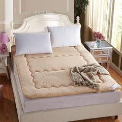 保暖羊羔绒榻榻米床垫 0.9*2米床 驼色