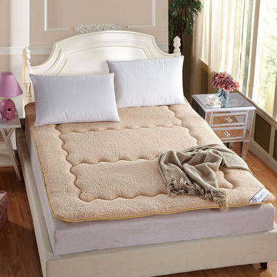 保暖羊羔绒榻榻米床垫 1.8*2米床 驼色
