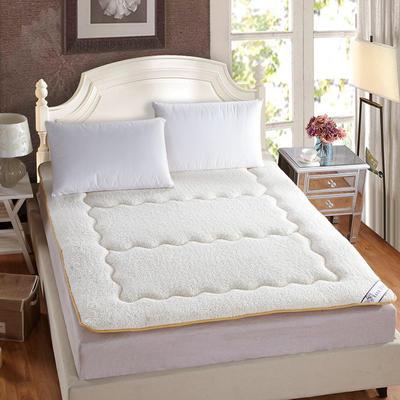 保暖羊羔绒榻榻米床垫 0.9*2米床 奶白