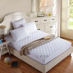 素色夹棉床笠式床垫保护垫 90cmx200cm 白色