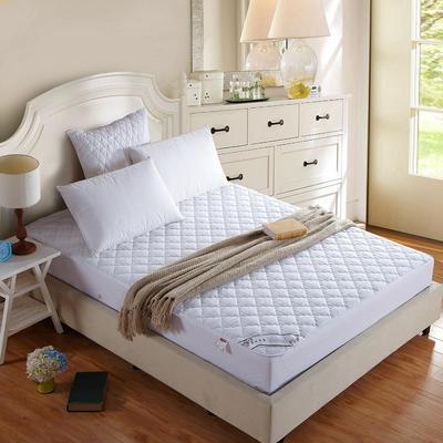 宾馆白色绗绣夹棉床笠席梦思保护套 120x200cm 白色