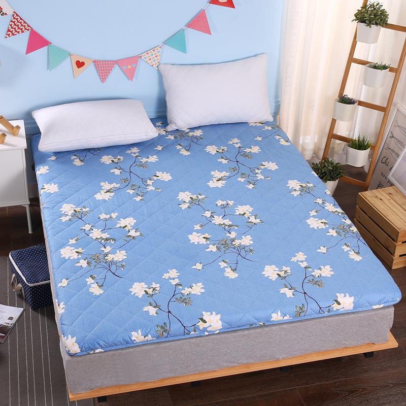 加厚磨毛印花绗绣耐压床垫