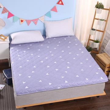 加厚印花绗绣耐压床垫 90*200cm 简约三角