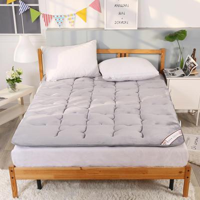 可折叠无痕加厚保暖法莱绒床垫 1.5*2米床 银灰