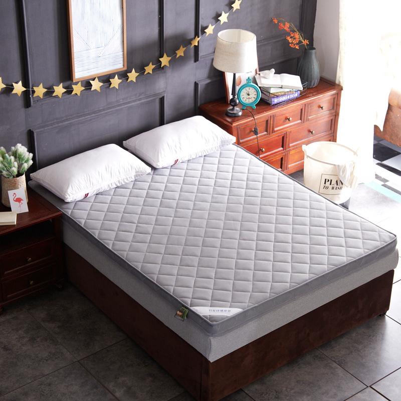 透气网格竹炭纤维加厚立体床垫
