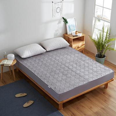 纯色水洗棉绗绣夹棉床笠 150cmx200cm 灰色