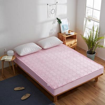 纯色水洗棉绗绣夹棉床笠 180cmx200cm 粉色