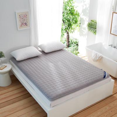 全棉绗绣加厚耐压床垫 90X200cm 灰色
