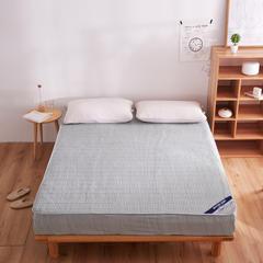 纯色日式色织彩棉加厚夹棉床笠 150cmx200cm 草绿色