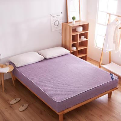 纯色日式色织彩棉加厚夹棉床笠 180cmx200cm 浅褐色