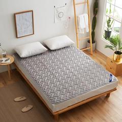 全棉透气网格竹炭纤维绗绣床垫 0.9*2米床 精品全棉竹炭床垫