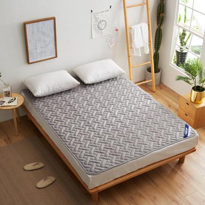 全棉透气网格竹炭纤维软床垫 1.8*2米床 精品全棉竹炭床垫