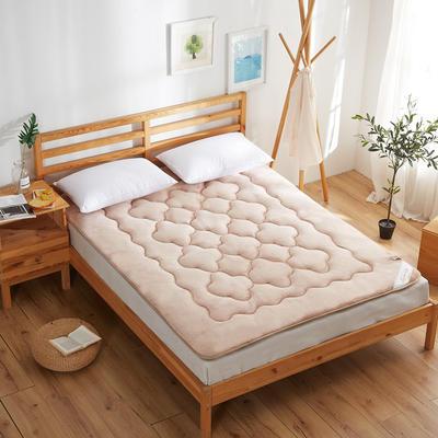 精致保暖法莱绒床垫 0.9*2米床 米驼