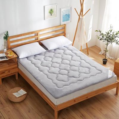 精致保暖法莱绒床垫 1.2*2米床 银灰