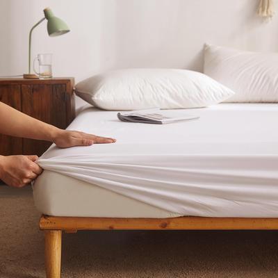 纯色单层全棉床笠 150cmx200cm 白色