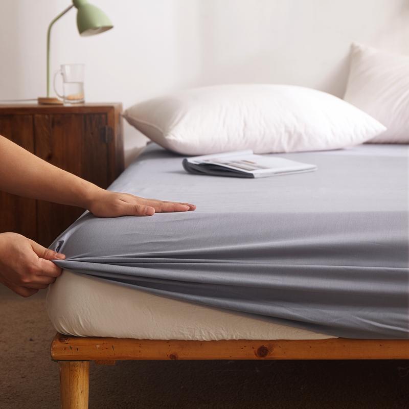 纯色单层全棉床笠